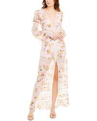 For Love & Lemons For Love & Lemons Claudette Maxi Dress - Pink