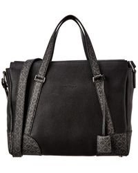 Ferragamo Dynamo Leather Briefcase - Black