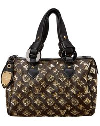 Louis Vuitton Gold Monogram Eclipse Canvas Speedy 30 - Black