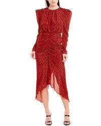 Ronny Kobo Juju Silk-blend Sheath Dress - Red