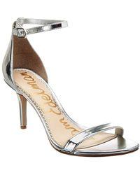 Sam Edelman Patti Patent Sandal - Metallic