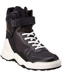 Dior Jumper Leather High-top Trainer - Black