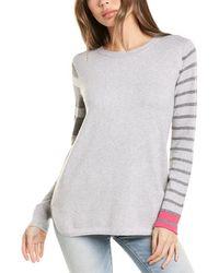 Lisa Todd Pop Stripe Sweater - Gray