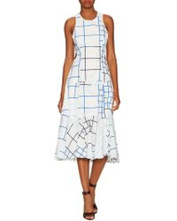 Timo Weiland | Print Cut Out Fit And Flare Dress | Lyst