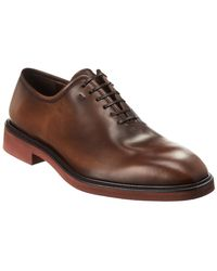Ferragamo Leather Oxford - Brown