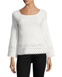 Ramy Brook - Dina Perforated Sweater - Lyst