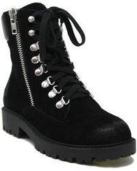 Charles David Rocky Lace-up Suede Boot - Black