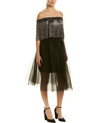 Monique Lhuillier Silk A-line Dress - Black