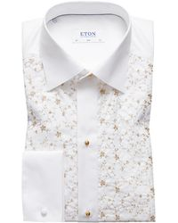 ca8df4c042 Eton of Sweden - Men s Contemporary Fit Floral-detail Formal Dress Shirt -  Lyst