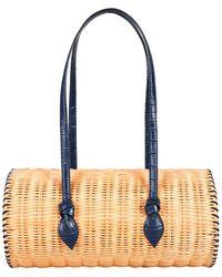 PAMELA MUNSON The Agatha Barrel Bag - Blue