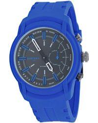 DIESEL Dt1017 Armbar Hybrid Blue Silicone Smartwatch, 44 Mm