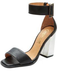 L'Intervalle Hutamia Two-piece Leather Sandal - Black