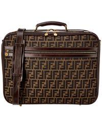 Fendi Brown Zucca Canvas Suitcase
