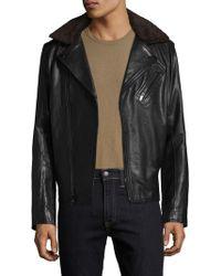 Karl Lagerfeld Karl Asymmetrical Motorcycle Jacket - Black