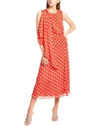 Ronny Kobo Claudia Silk-blend Midi Dress - Red