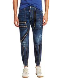 DSquared² - Military Zip Trim Slim Straight Pant - Lyst