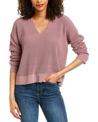 Eileen Fisher Petite V-neck Boxy Jumper - Purple