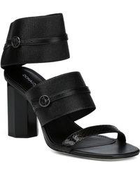 Donald J Pliner Edie Leather Sandal - Black