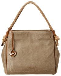 9e5572da55cb MICHAEL Michael Kors - Isla Large Metallic Leather Tote Bag - Lyst