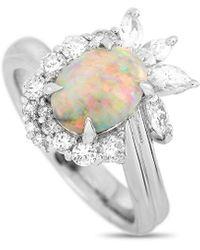 Heritage Platinum 2.04 Ct. Tw. Diamond & Opal Ring - Metallic