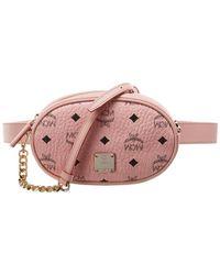 MCM Essential Visetos Belt Bag - Pink