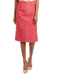 ESCADA Silk-blend Pencil Skirt - Pink