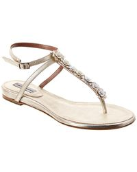 Tabitha Simmons Pyper T-bar Strap Metallic Leather Sandal