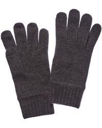 Portolano Men's Dark Heather Grey Cashmere Gloves