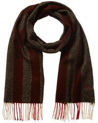 Bally Patterned Wool-blend Scarf - Black