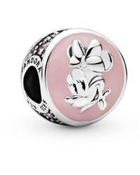PANDORA Disney Silver Vintage Minnie Charm - Metallic