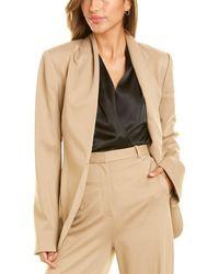 Halston Ana Knit Tie Belt Jacket - Brown