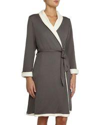 Eberjey Alpine Chic Classic Robe - Gray