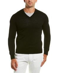 Qi Wool V-neck Sweater - Black