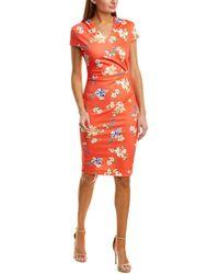 Alexia Admor - Kinsley Ruched Sheath Dress - Lyst