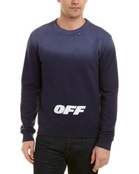 Off-White c/o Virgil Abloh Wing Off Crewneck - Blue
