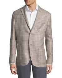 Corneliani - Check Suit Jacket - Lyst