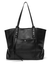 Tiffany & Fred Leather Tote - Black