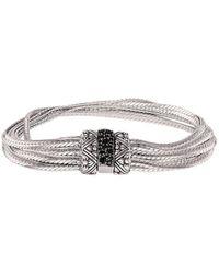 Stephen Dweck Silver Black Spinel Bracelet - Metallic