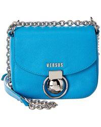 Versus By Versace Leather Shoulder Bag - Blue