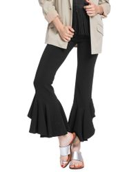 Plenty by Tracy Reese Cascading Ruffle Ankle Trousers - Black