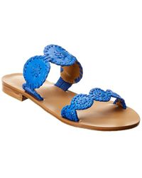 Jack Rogers Lauren Leather Sandal - Blue