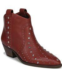Sam Edelman Brian Leather Bootie - Red