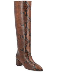 Paris Texas Croco-embossed Leather Boot - Brown