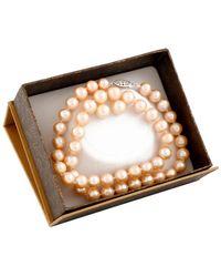 Splendid - Silver 8-8.5mm Freshwater Pearl Necklace & Earrings Set - Lyst