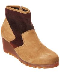 Arche Larizy Leather Wedge Ankle Boot - Brown