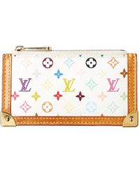 Louis Vuitton White Monogram Multicolore Canvas Pochette Clefs
