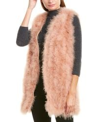 Twin Set Twinset Fuzzy Vest - Natural