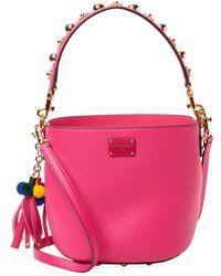 Dolce & Gabbana Studded Bucket Bag - Pink