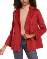 Max Mara S Dea Silk-lined Wool & Angora-blend Jacket - Red