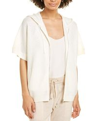 St. John Sequined Wool-blend Cardigan - White